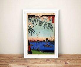 Buy Ayase River Hiroshige Framed Wall Art