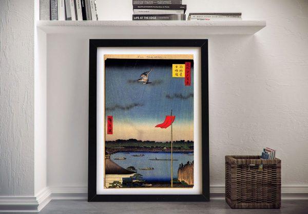 Buy a Canvas Print of Azuma Bridge by Hiroshige