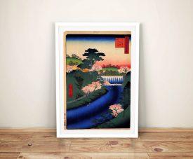 Buy Dam on the Otonashi River Art by Hiroshige