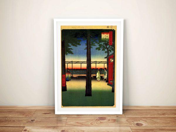 Buy a Canvas Print of Dawn at Kanda Myojin Shrine