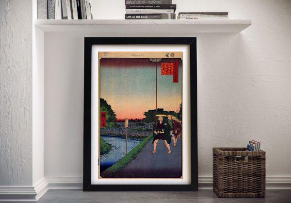 Buy Distant View of Akasaka Tameike Framed Art