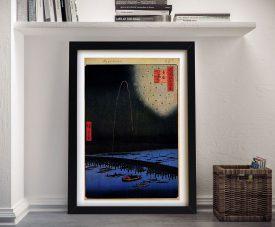 Buy Hiroshige's Fireworks at Ryogoku Artwork