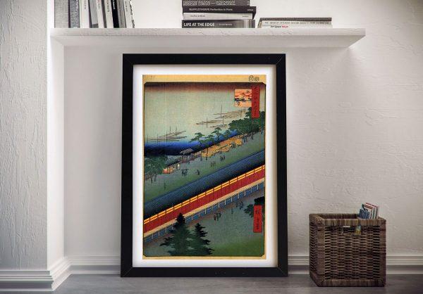 Buy Hall of Thirty Three Bays Hiroshige Wall Art