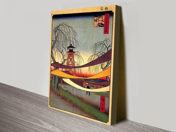 Buy Hatsune Riding Grounds Hiroshige Wall Art Online