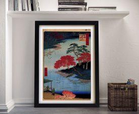 Buy Inside Akiba Shrine Japanese Canvas Wall Art