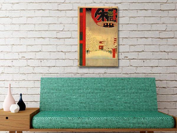 Buy Kinryuzan Temple Wall Art Great Gift Ideas Online