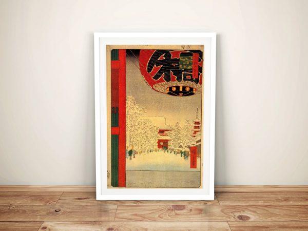 Buy a Hiroshige Canvas Print of Kinryuzan Temple