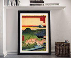 Buy a New Fuji Framed Canvas Print by Hiroshige