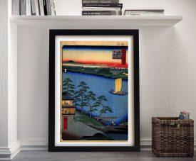 Buy Nijuku Ferry a Classic Hiroshige Wall Art