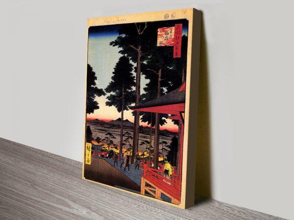 Buy Oji Inari Shrine Hiroshige Artwork Cheap Online