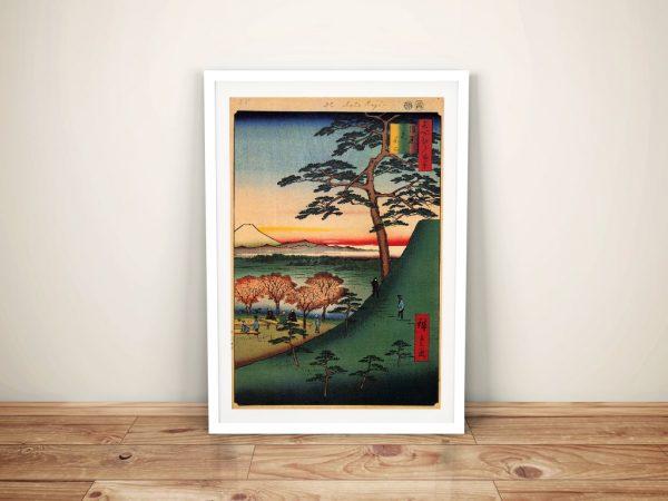 Buy a Hiroshige Canvas Print of Original Fuji