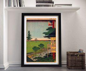 Buy a Raken Temple Canvas Print by Hiroshige
