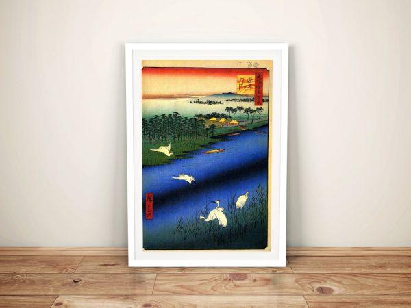 Buy a Print of Sakasai Ferry by Hiroshige