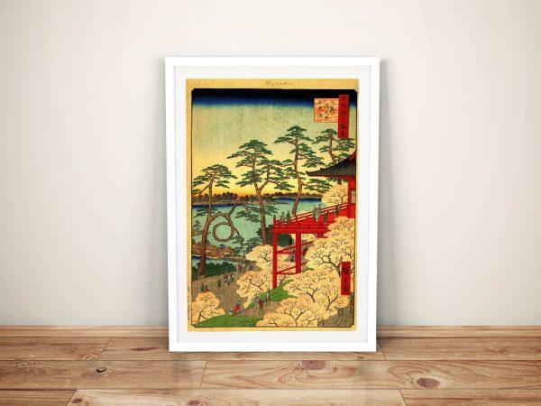 Buy a Hiroshige Framed Print of Shinobazu Pond