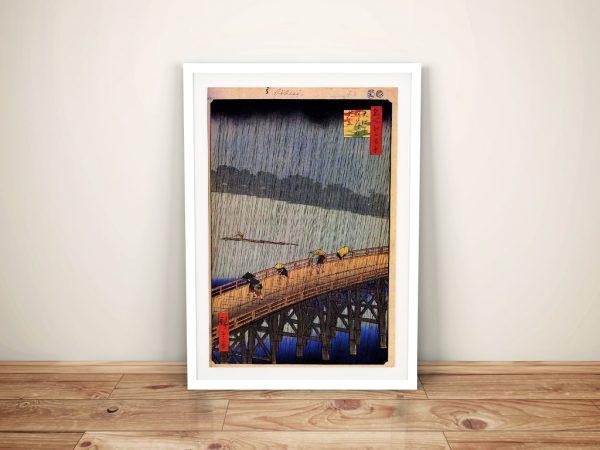 Buy Sudden Shower a Hiroshige Canvas Print