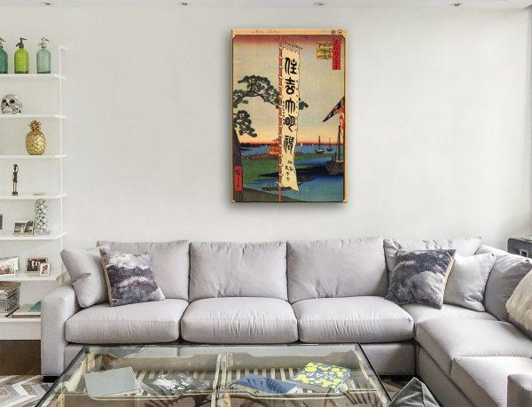 Buy Sumiyoshi Festival Cheap Hiroshige Wall Art AU