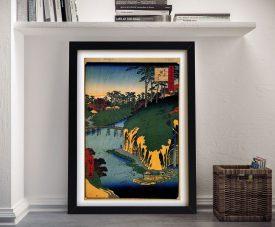 Buy a Canvas Print of Takinogawa by Utagawa Hiroshige