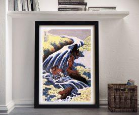 Buy Waterfall & Horse Washing Japanese Wall Art