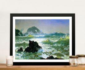Buy Seal Rock Seascape Framed Art by Bierstadt