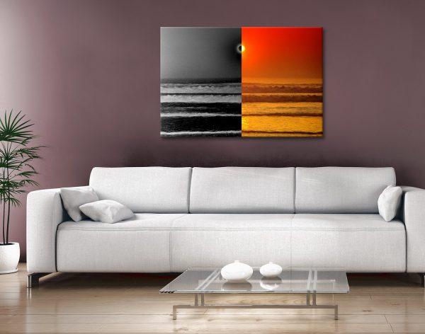 Sunset Reflections split Canvas Artwork Australia