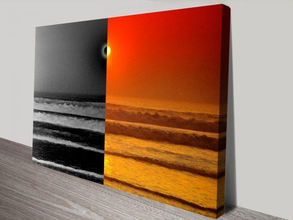 Sunset Reflections split effect canvas print