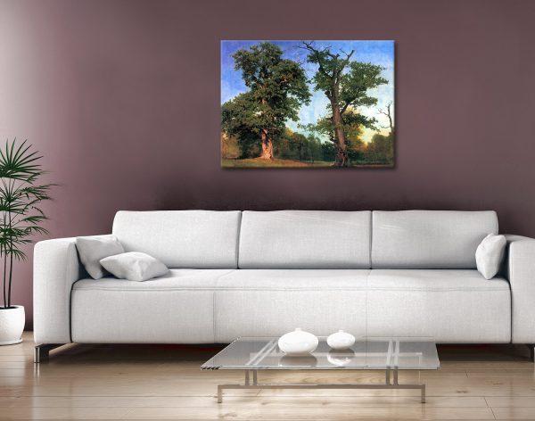 The Pioneers of Forest Buy Bierstadt Wall Art AU