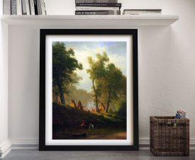 Buy Wolf River Kansas a Bierstadt Canvas Print