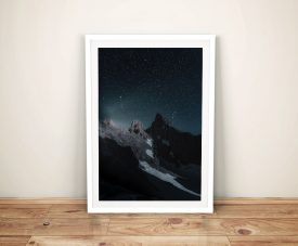 Buy a Print of Mountain In the Stars Framed Art