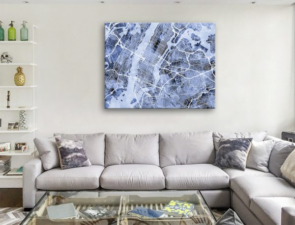 Buy a Print of NYC Street Map Great Gift Ideas AU