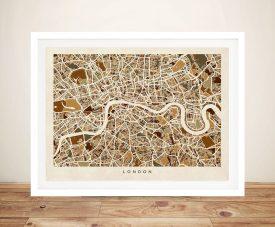 Buy a London Street Map Tompsett Canvas Print