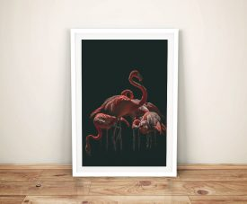 Buy Flamingo Vision Framed Canvas Wall Art