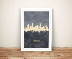 Buy Los Angeles Two-Tone Skyline Art in Grey