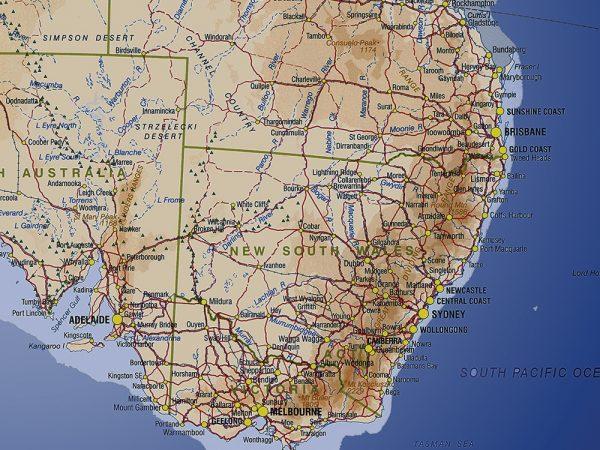 Australia Personalised Map Pin Art