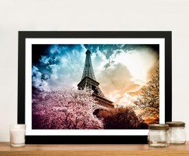Buy a Colourful Eiffel Framed Canvas Print