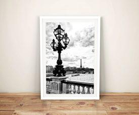 Buy Paris So Romantic a Black & White Framed Print