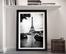 Buy a Canvas Hugonnard Print of Paris sur Seine