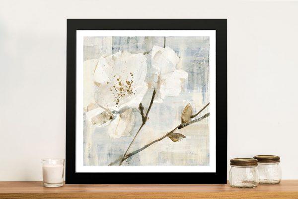 Buy Elegance I Framed Canvas Watercolour Print