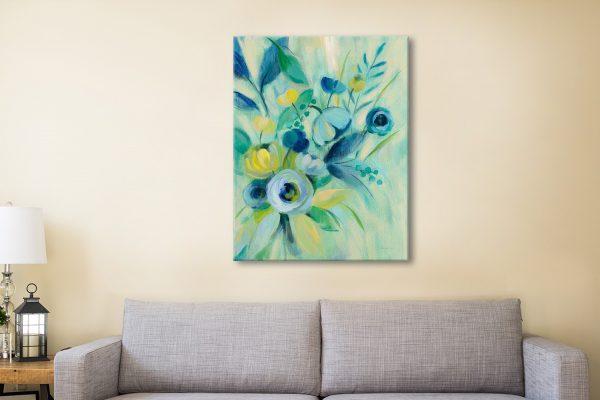 Buy Elegant Blue Floral I a Vassileva Canvas Print