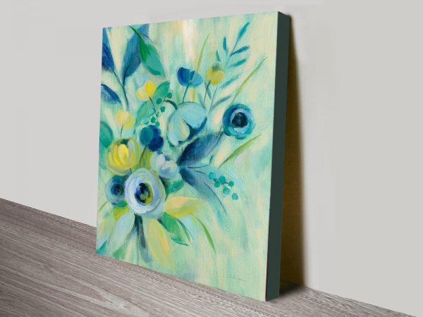 Buy Elegant Blue Floral I Wall Art Great Gifts Online