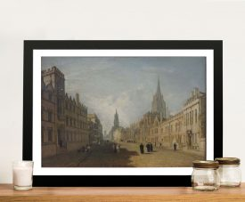 Buy High Street Oxford Oil Painting Canvas Print