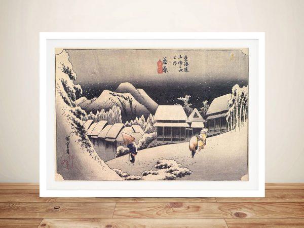 Buy a Canvas Print of Kanbara by Utagawa Hiroshige