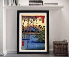 Buy a Canvas Print of Tenjin Shrine by Hiroshige