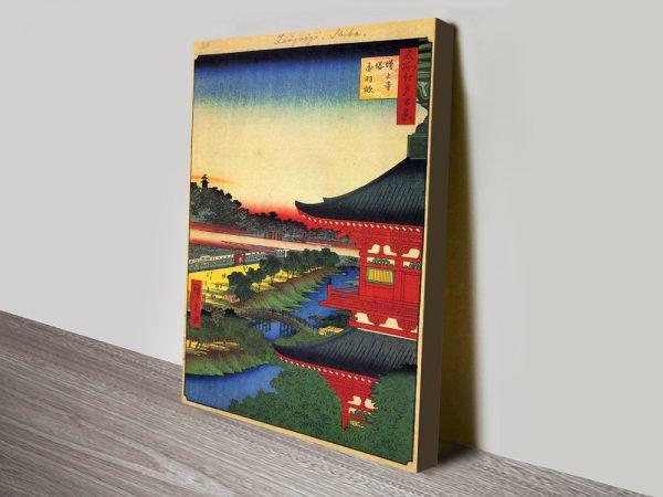 Buy a Print of Zojoji Pagoda Cheap Canvas Prints Online