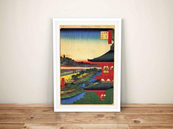 Buy Zojoji Pagoda Pretty Japanese Canvas Art