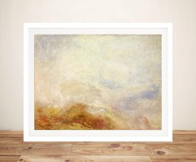 Buy A Mountain Scene Framed Canvas Art by Turner