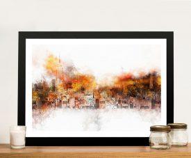 Buy a Canvas Print of The Skyline by Hugonnard
