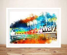 Buy a Framed Print of Manhattan Subway
