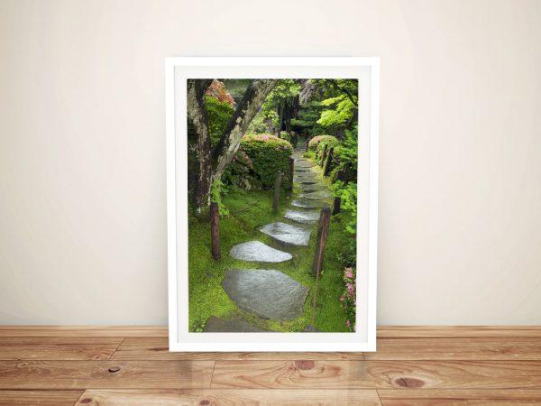 Path of serenity Spiritual Framed Wall Art