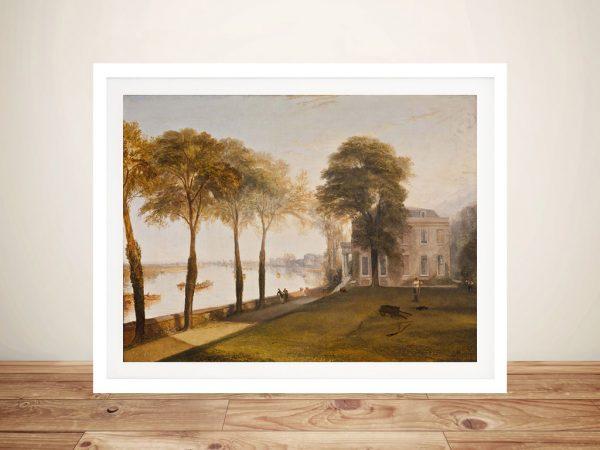 Buy Mortlake Terrace A Classic Turner Canvas Print