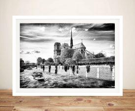 Buy Notre Dame de Paris Black & White Framed Art